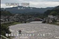 高原川増水
