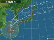 台風25号は?